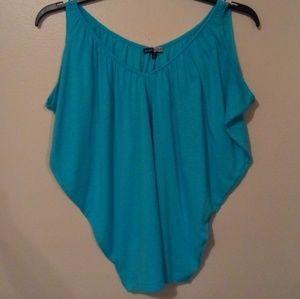 NWOT BASIC HOUSE AQUA BAGGY TOP TAPERED BLOUSE